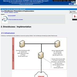 DirectAccess: Présentation et Implémentation