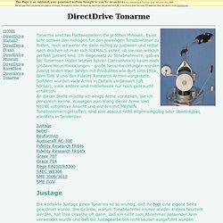 DirectDrive Tonarme justieren