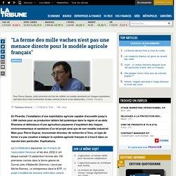 """LA TRIBUNE 17/09/14 """"La ferme des mille vaches n'est pas une menace directe pour le modèle agricole français"""""""