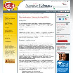 Directed Reading Thinking Activity (DRTA)
