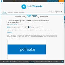 7 ressources pour générer des PDF directement depuis votre application web