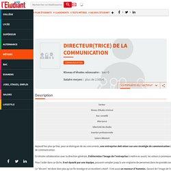 Directeur de communication - La fiche métier de l'Etudiant - L'Etudiant