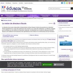 Directeur d'école - Le métier de directeur d'école