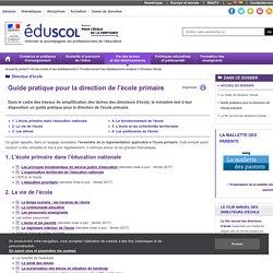 Directeur d'école - Guide pratique pour la direction de l'école primaire