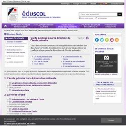 Fonctionnement des écoles - Missions du directeur d'école