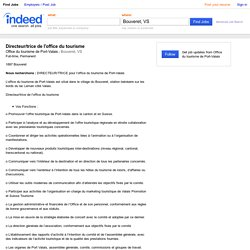 Directeur/trice de l'office du tourisme Job - Office du tourisme de Port-Valais - Bouveret, VS
