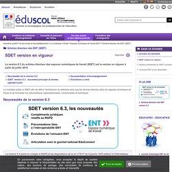 Schéma directeur des ENT (SDET) - SDET version en vigueur
