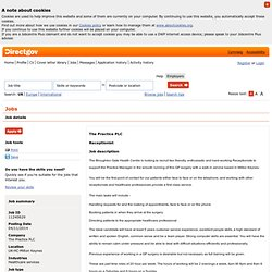 Directgov jobs and skills search - Job details