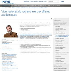 INRS - Direction scientifique