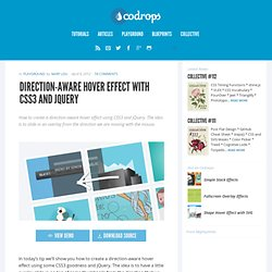 Direction-Aware Hover with CSS3 and jQuery