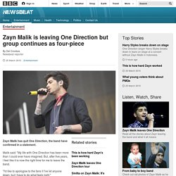 Zayn Malik is leaving One Direction but group continues as four-piece - BBC Newsbeat