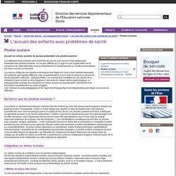 Phobie scolaire - Direction des services départementaux de l'Éducation nationale du Doubs