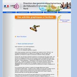 Direction des services départementaux de l'Education nationale du Nord - Vers l'écriture