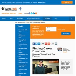 Finding Career Direction - Career Development from MindTools.com