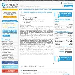 Direction financière et reporting chez Séphora