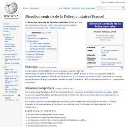Direction centrale de la Police judiciaire (France)