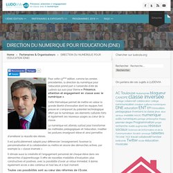 DIRECTION DU NUMERIQUE POUR l'EDUCATION (DNE) » Ludovia #13 - aout 2016