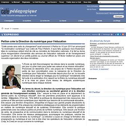 Peillon crée la Direction du numérique pour l'éducation