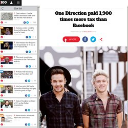 One Direction paid 1,900 times more tax than Facebook
