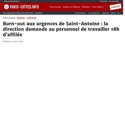 Burn-out aux urgences de Saint-Antoine : la direction demande au personnel de travailler 18h d'affilée