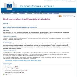 Direction générale de la politique régionale et urbaine – La politique régionale de l'UE