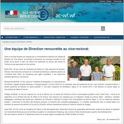 Une équipe de Direction renouvelée au vice-rectorat - Vice-Rectorat des îles Wallis et Futuna