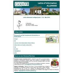 Lettre Allemand collège-lycée n° 52 - Mai 2015 - Réseau Canopé – Direction territoriale académies de Besançon et de Dijon