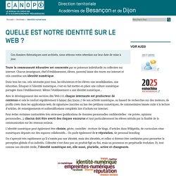 Canopé académie de Besançon : Identité numérique