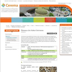 Réseaux de Chaleur Biomasse - Présentation générale