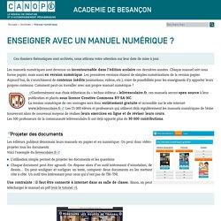Canopé direction territoriale, académies de Besançon et de Dijon: Manuel numérique