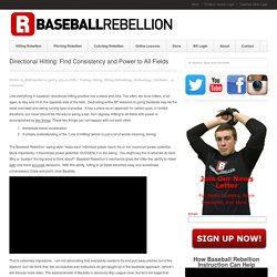 Directional Hitting: Find Power and Consistency to All Fields