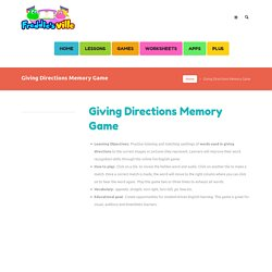 Giving Directions Memory Game for English Learners