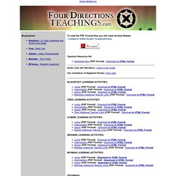 Four Directions Teachings.com - Aboriginal Online Teachings and Resource Centre - © 2006 - 2012 All Rights Reserved 4D Interactive Inc., a subsidiary of Invert Media Inc.