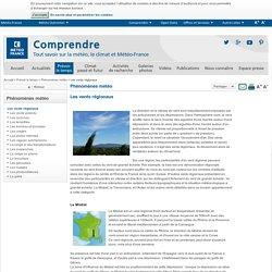 Vents régionaux : directions et localisations - Météo-France