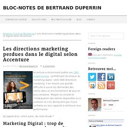 Les directions marketing perdues dans le digital selon Accenture