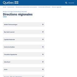 Directions régionales