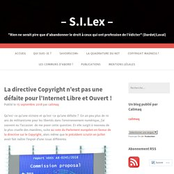 La directive Copyright n'est pas une défaite pour l'Internet Libre et Ouvert