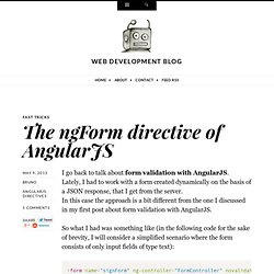 The ngForm directive of AngularJS