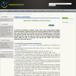 Directive Habitats Faune Flore
