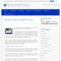 Directive NIS : enjeux pour les OSE (OIV en France)