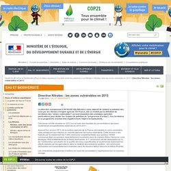 MEDDE 04/03/13 Directive Nitrates : les zones vulnérables en 2013