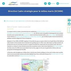 Directive Cadre stratégie pour le milieu marin - Milieu Marin France