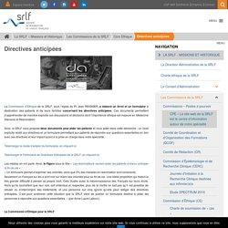 Directives anticipées - SRLF