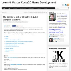 The Complete List of Objective-C 2.0 @ Compiler Directives | Learn & Master Cocos2D Game Development