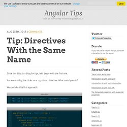 tip: directives with the same name