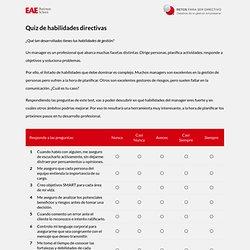 EAE Retos Directivos - Quiz de habilidades directivas