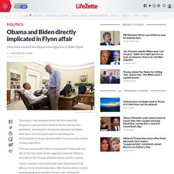 Obama and Biden directly implicated in Flynn affair