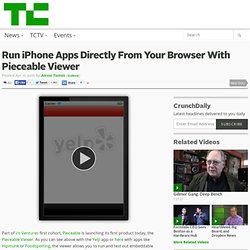 Run iPhone Apps Directly From Your Browser With Pieceable Viewer