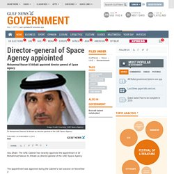 Director-general of Space Agency appiointed