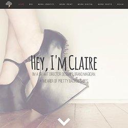 f claire baxter | creative director . senior designer . brand ma
